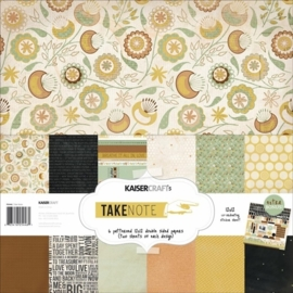 "Kaiser craft paper pack 12x12"" Take Note"