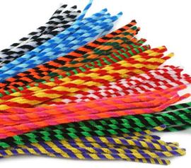7040.05.22 - Chenille Mix Striped - 10 stuks - 50 cm