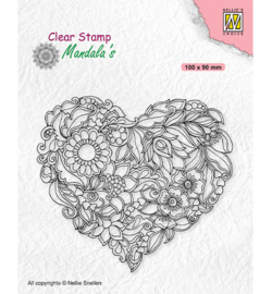 Nellie`s Choice - CSMAN001 - Mandala Flower heart