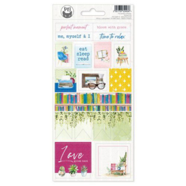 Piatek13 - Sticker sheet Garden of Books 02 P13-GAR-12 10,5x23cm