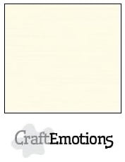 CraftEmotions linnenkarton - ivoor LHC-03 A4 250gr