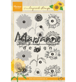 Marianne D Stempel TC0865 - Tiny's layered Sunflower