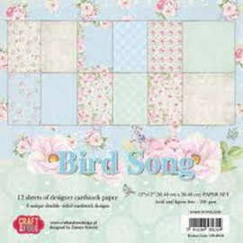 Craft&You Bird Song BIG Paper Set 12x12 12 vel