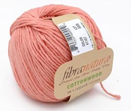 Fibra Natura - Cottonwood 41107 Zalm Oranje 100% Organische Katoen