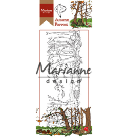 Marianne D Stempel HT1636 - Hetty's border: Autumn forest