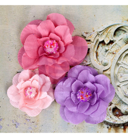 Fabric flowers-Rosy- Prima Marketing