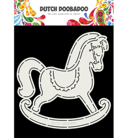 Dutch Doobadoo - 470713766 - Card Art Schommelpaard A5
