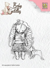 Nellie`s Choice Clearstamp - Baby Cuddles Princess Rabbit CSBC001