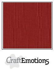 CraftEmotions linnenkarton donker rood 27x13,5cm 250gr