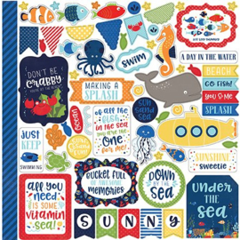 Echo Park Under The Sea 12x12 Inch Element Stickers (US131014)