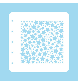 Nellie`s Choice - COLST007 - Stencil Christmas Time -Stars and dots-