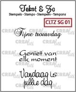 Crealies Clearstamp Tekst&Zo Speciale Gelegenheden 1 (NL) CLTZSG01