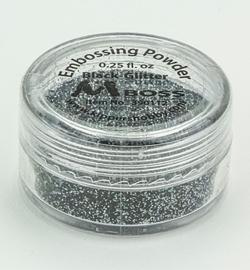 Embossing powder - Black-Glitter(Special Silver)