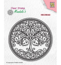 Nellie`s Choice - CSMAN003 - Mandala Circle with tree