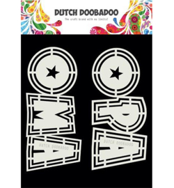 Dutch Doobadoo - 470.713.807 - DDBD Card Art Opa en Oma 2 set