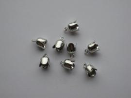 Brass Bell Cap-eindkap met oog 6mm platinum 8 ST 12296-9601