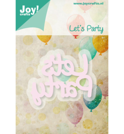 Cutting & Embossing tekst Let's Party