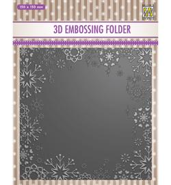 Nellie`s Choice - EF3D015 - Christmas serie: -Snowflake frame-