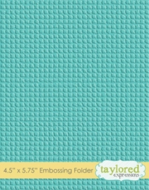 Burlap Embossing Folder (TEEF12)