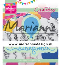 Marianne D Creatables LR0626 - Congrats & Balloon - 25th anniversary