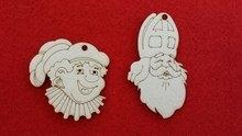 Cadeaulabel assorti Sint en Piet met oog 10 stuks in zakje
