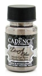 Cadence Dora Glas & Porselein verf Metallic Roze bruin 01 013 3170 0050 50 ml