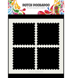 Dutch Doobadoo - 470715616 - Mask Art Postal Stamps