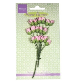Marianne Design - Paper Flowers - Roses bud - light pink