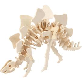 Stegosaurus - 3D Hout constructieset met APP
