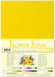 LeCrea - 10 Flower Foam sheets A4 zonnebloemgeel 25.4155 0.8mm