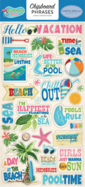Carta Bella Summer Splash 6x13 Inch Chipboard Phrases