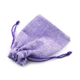 Jute look zakje 15x20 cm - Lavendel kleur