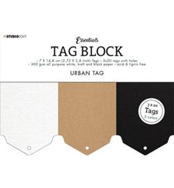 Studio Light - SL-ES-TAGBL03 - SL Tag block Urban Essentials nr.03