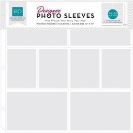 Echo Park Photo Sleeves 4x6 Inch & 3X4 Inch (10 pcs) (PFPS1004)