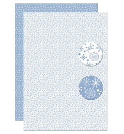 Nellie`s Choice - Background Decoupage Sheet - NEVA097 - Snowflakes