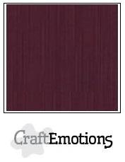 CraftEmotions linnenkarton burgundy 30,5x30,5cm
