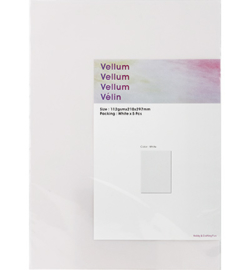 Vellum - Wit, 5 vellen