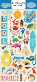 Carta Bella Summer Splash 6x13 Inch Chipboard Accents