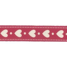 Ribbon 15mm hearts and dots - per meter