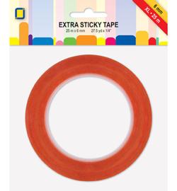 Extra sticky tape XL - 6 mm x 25 mtr
