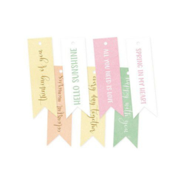 Piatek13 - Decorative tags The Four Seasons - Spring 02 P13-SPR-22