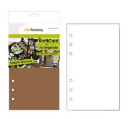CraftEmotions karton kraft Ringband bruin 12 vel 12x20,5cm - 220 gr - 6 Ring A5