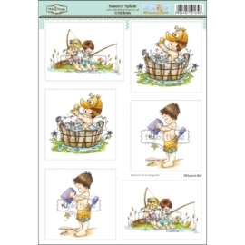 The Hobby House Wee Stamps - Summer Splash (HHEB008)