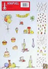 Knipvel A4 Leane Creatief-732 Knipvel draaikaarten: verjaardag motieven