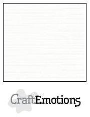 CraftEmotions linnenkarton wit 27x13,5cm 250gr