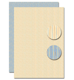 Nellie`s Choice - Background Decoupage Sheet - NEVA095 - Lines beige/blue