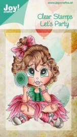 Clear stamps - meisje met lolly