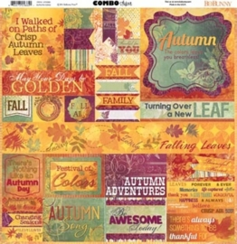 BoBunny Autumn Song; Combo Stickers 12""