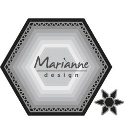 Marianne D Craftable CR1444 - Basic set: Hexagon