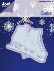 Cutting & Embossing stencil - schaatsen